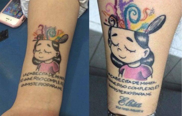 tatuajes sobre autismo caricatura niña