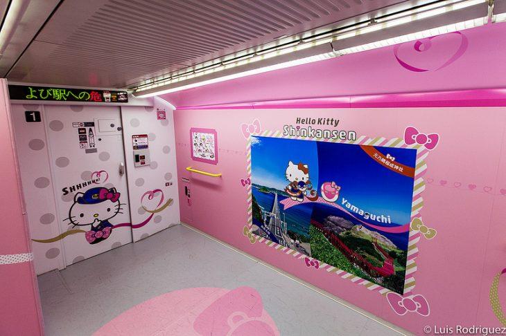 interior de un tren bala en japón