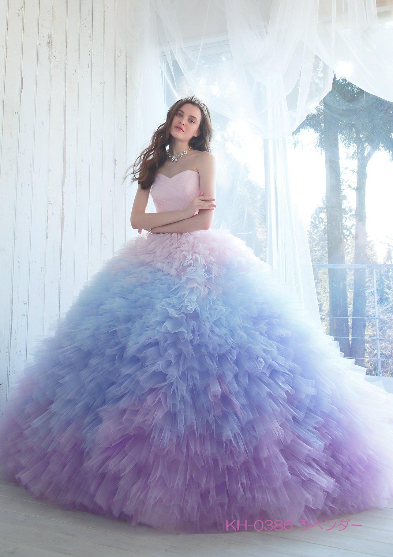 7f0abc503f Chica con vestido para XV años de corte princesa con olanes de color rosa  degradado a