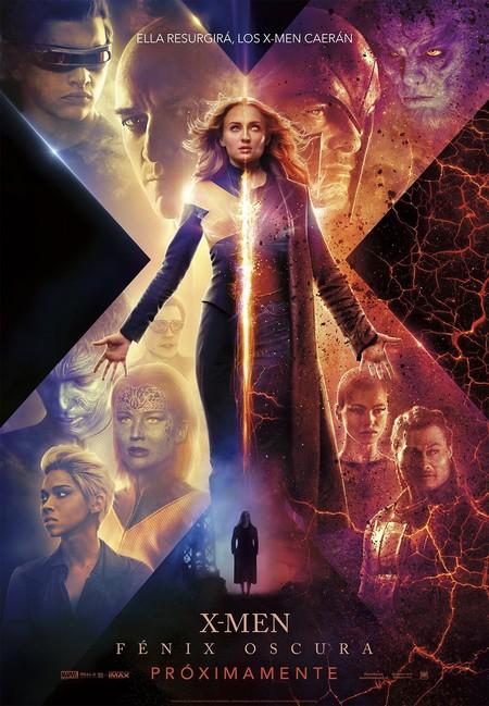 Poster oficial de la película X-Men fénix oscura