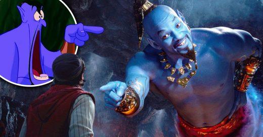 Disney acaba de revelar un pequeño trailer de Aladdin y ¡el genio sí es azul!