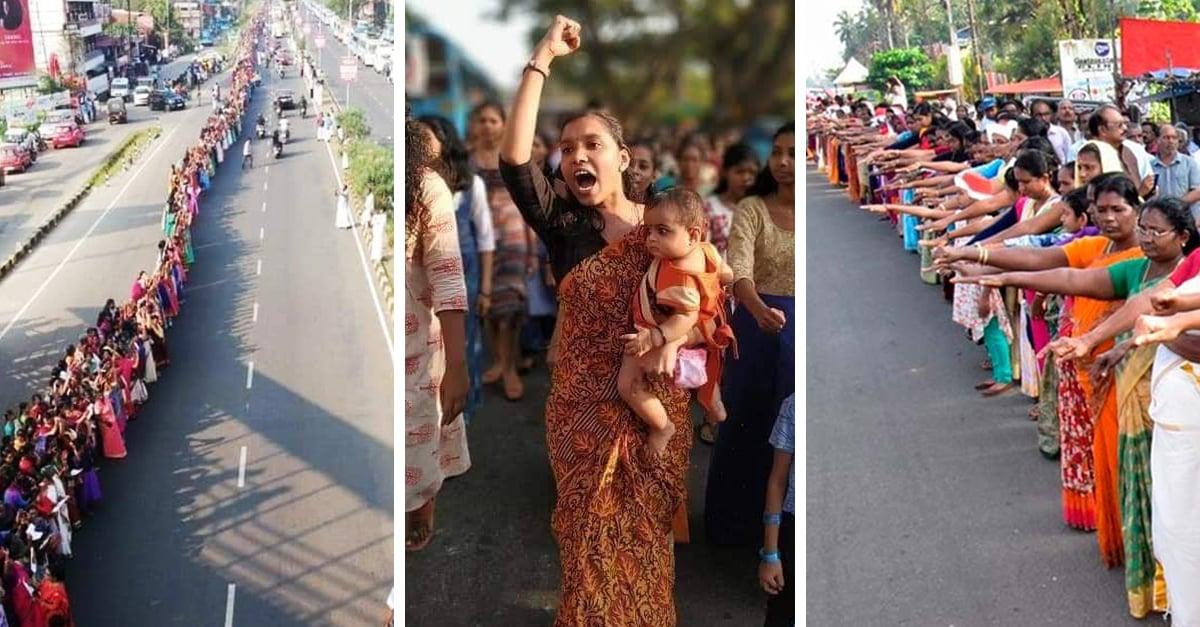 Millones de mujeres de India forman una cadena humana para pedir igualdad de género