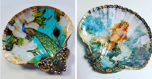 Artista utiliza conchas de mar para crear hermosas piezas decorativas