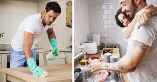 Lo dice la ciencia: Hombres que ayudan con el aseo de la casa son más atractivos