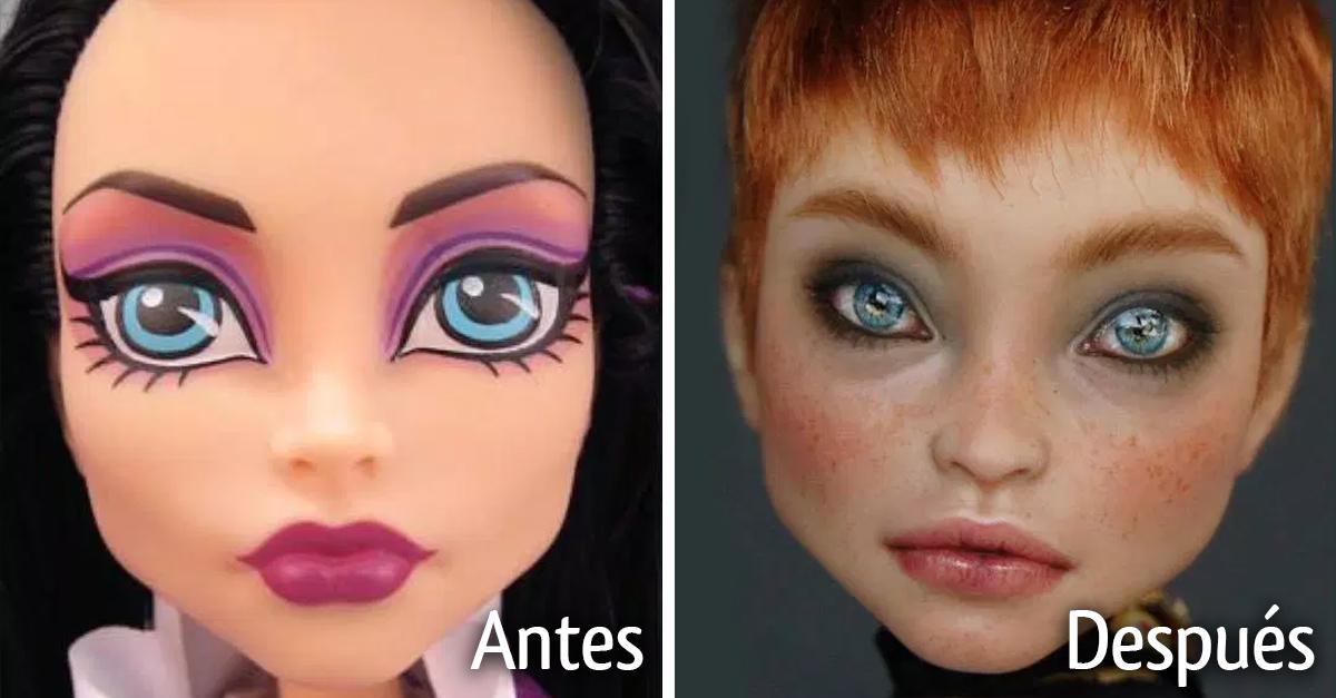 Artista repinta a las muñecas comerciales y el resultado es increíble