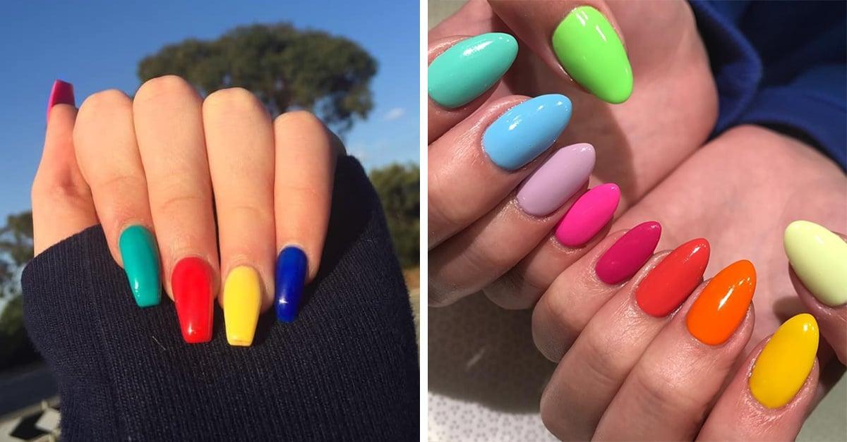Tendencia uñas arcoíris