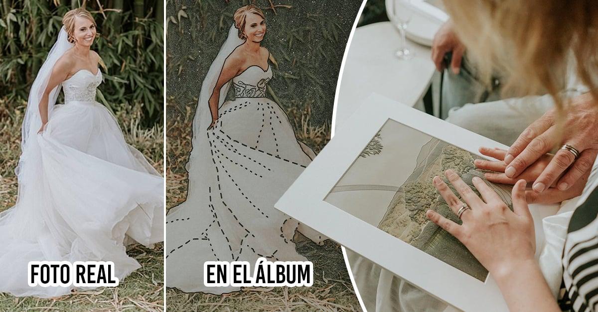 Fotógrafo ayuda a novia invidente a ver sus fotos de boda