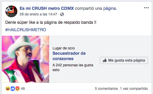 pagina de facebook es mi crush metro cdmx