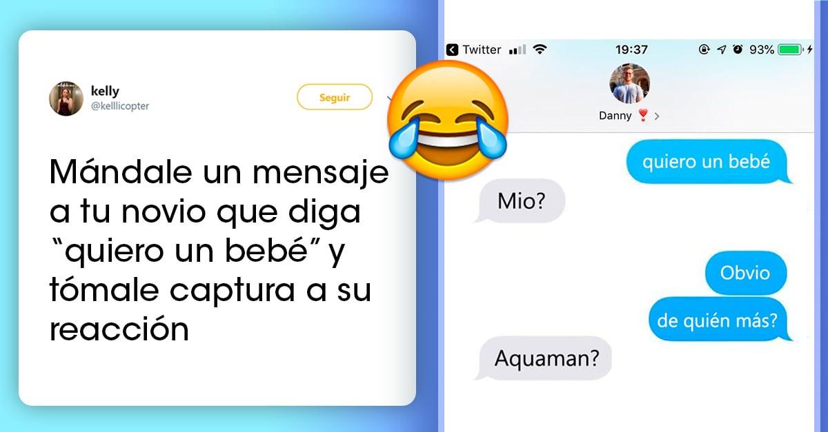 Chicas mandan mensajes a sus parejas diciéndoles que quieren tener un bebé y estas son sus respuestas