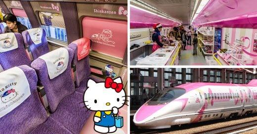 Prepárate para viajar en el nuevo tren bala inspirado en Hello Kitty