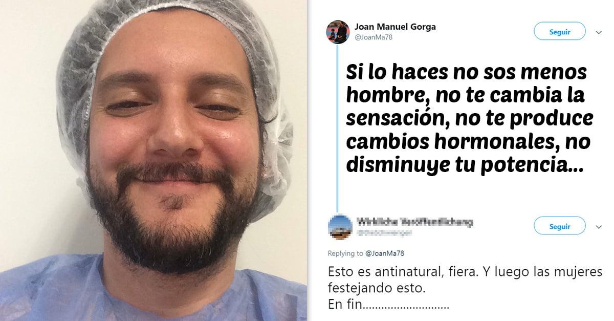 Después de hacerse la vasectomía se hizo viral en redes sociales