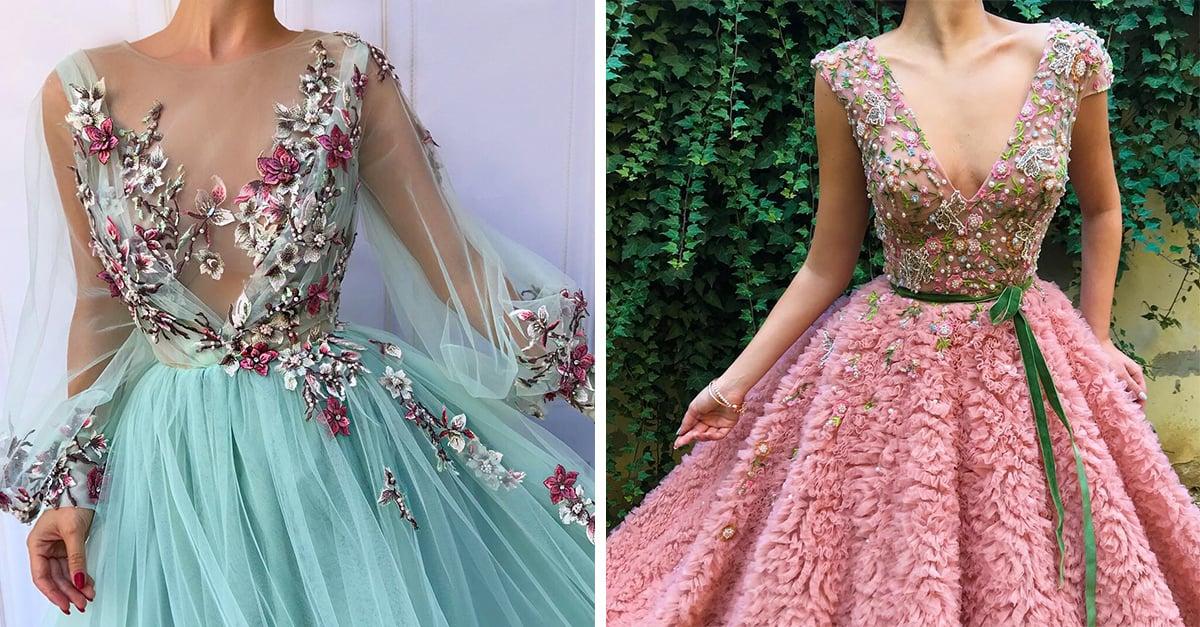 Los asombrosos vestidos floreados que querrás tener en tu gurdaropa