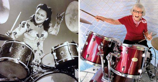 Esta mujer revela que su secreto para una vida larga es tocar la batería