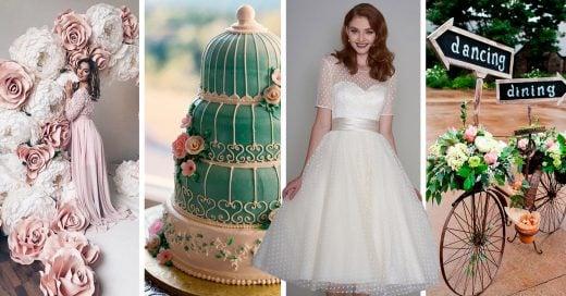 14 Sencillas ideas para decorar tu fiesta de XV años al estilo vintage