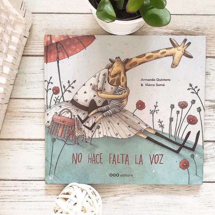 Portada del libro para niñosNo hace falta la voz