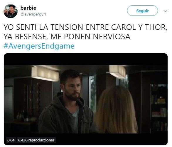 Tuits sobre Avengers endgame