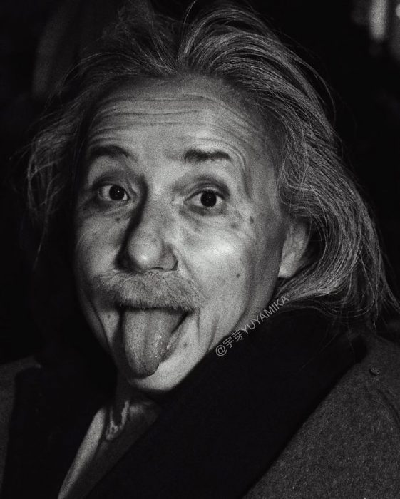 Albert Einstein en blanco y negro