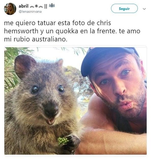 Tuits sobre Chris Hemsworth
