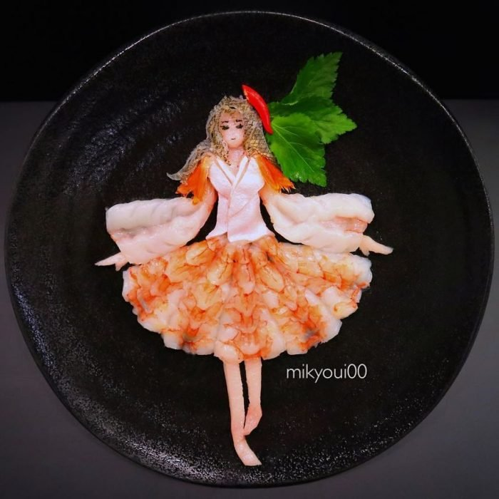 bailarina elaborada con sashimi