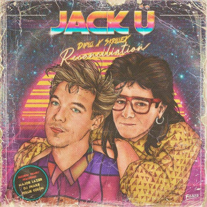 Ilustración estilo años 80 de Jack U