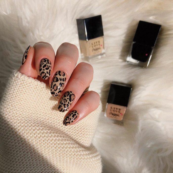 Diseños de uñas de animal print