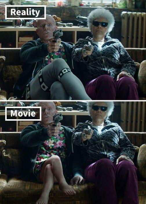 Escena de la película Deadpool