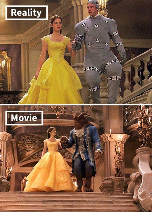 Escena del filme La Bella y la Bestia