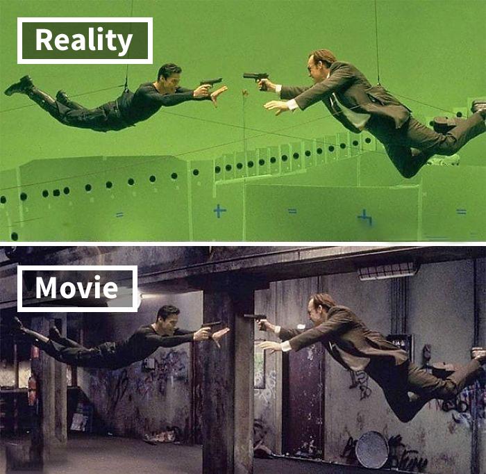 Escena de la película Matrix