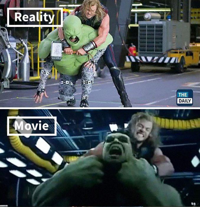 Escena de Avengers