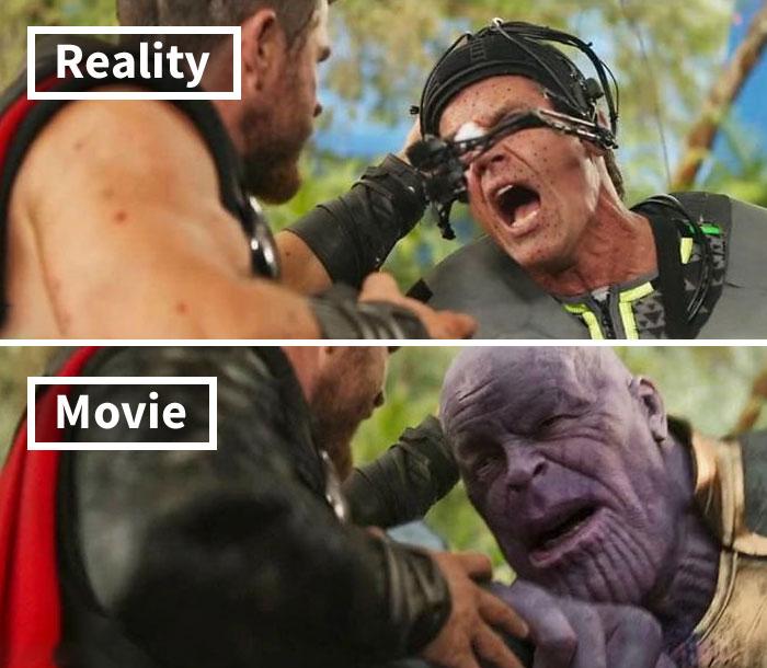 Escena de la película Avengers: Infinity War
