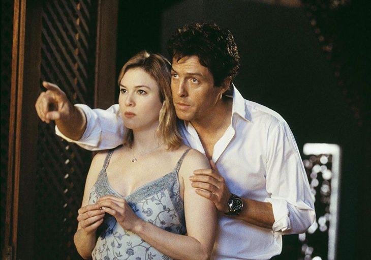 Escena Hugh Grant y Renné Zellweger de la película El diario de Bridget Jones