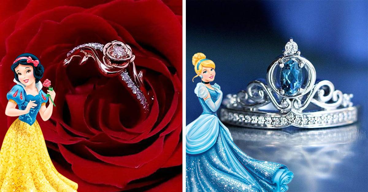 Disney crea colección de anillos de compromiso dignos para una princesa