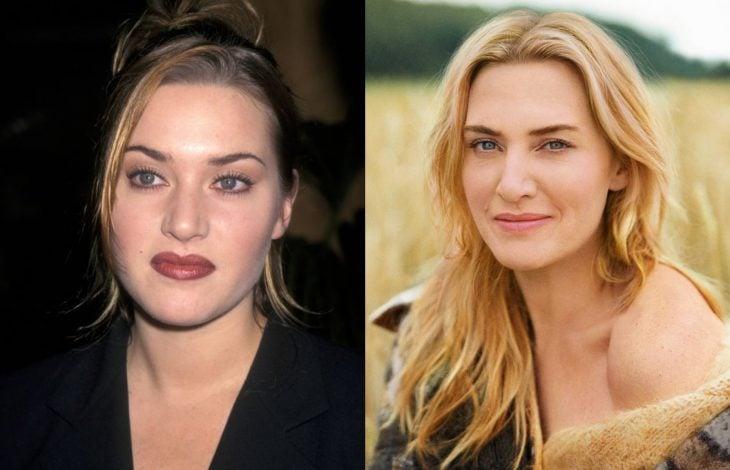 Famosas antes y después, Kate Winslet