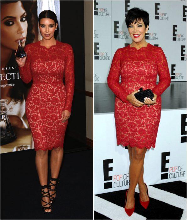 Famosas usando el mismo vestido durante una alfombra roja