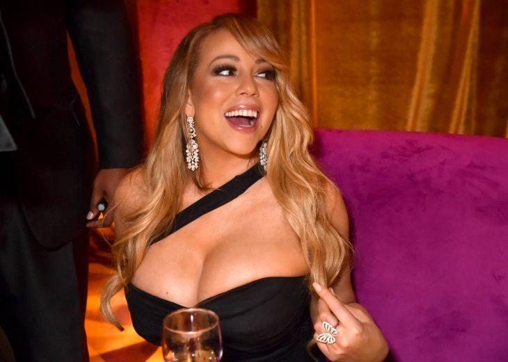 La cantante Mariah Carey en un evento