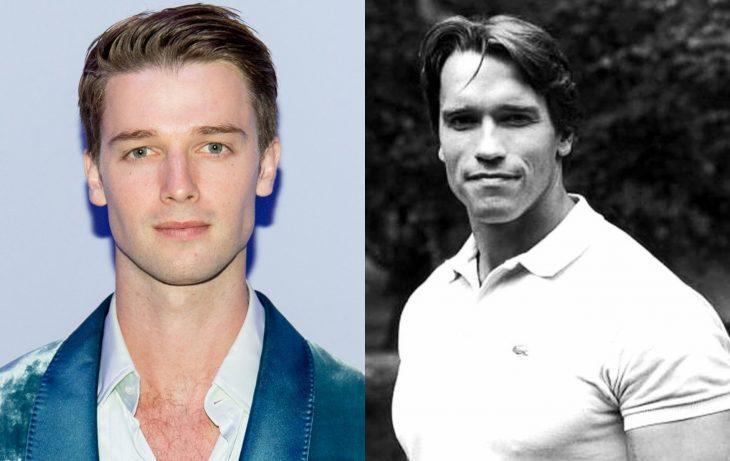 Patrick Shwarzenegger y Arnold Schwarzenegger joven, famosos jóvenes