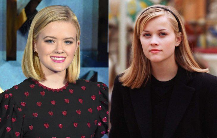 Ava Elizabeth Phillippe y Reese Witherspoon joven, famosos jóvenes