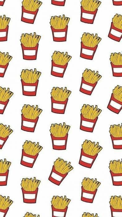 Fondo de pantalla de celular que tiene papas fritas de McDonalds