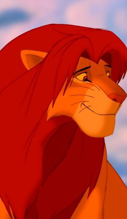 Fondo de pantalla para el celular con el personaje de Simba de El Rey León