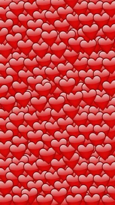 Fondos de pantalla para celular, wallpaper de emojis de corazones amontonados