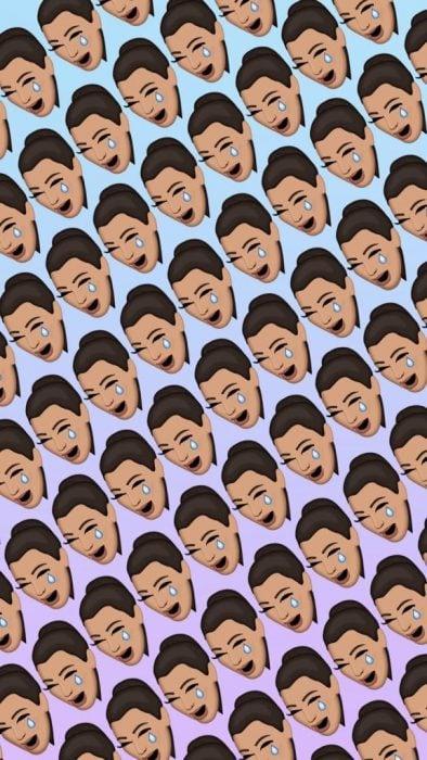 Fondos de pantalla para celular, wallpaper de emoji de Kim Kardashian llorando