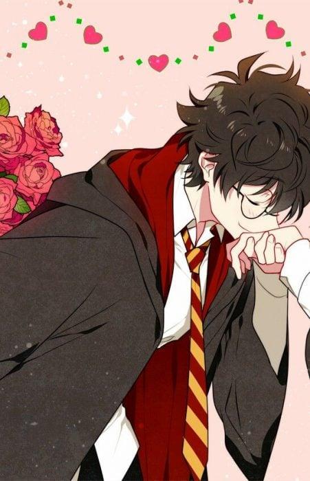 Fondo de pantalla del celular del personaje de Harry en anime