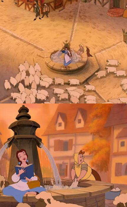 Errores en la película de la Bella y la Bestia