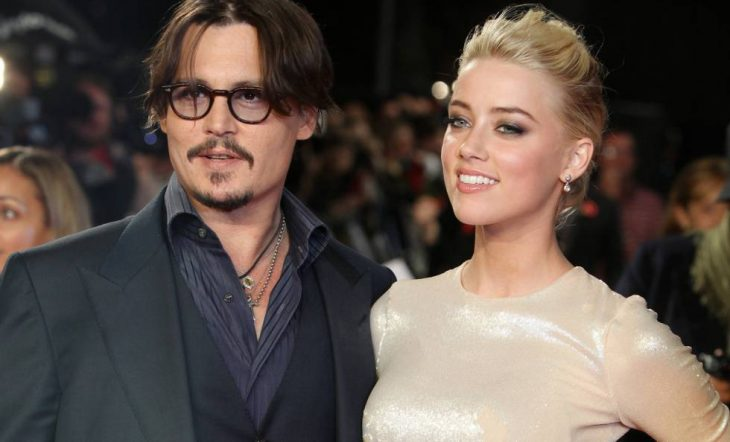 Johnny Depp y Amber Heard en una gala