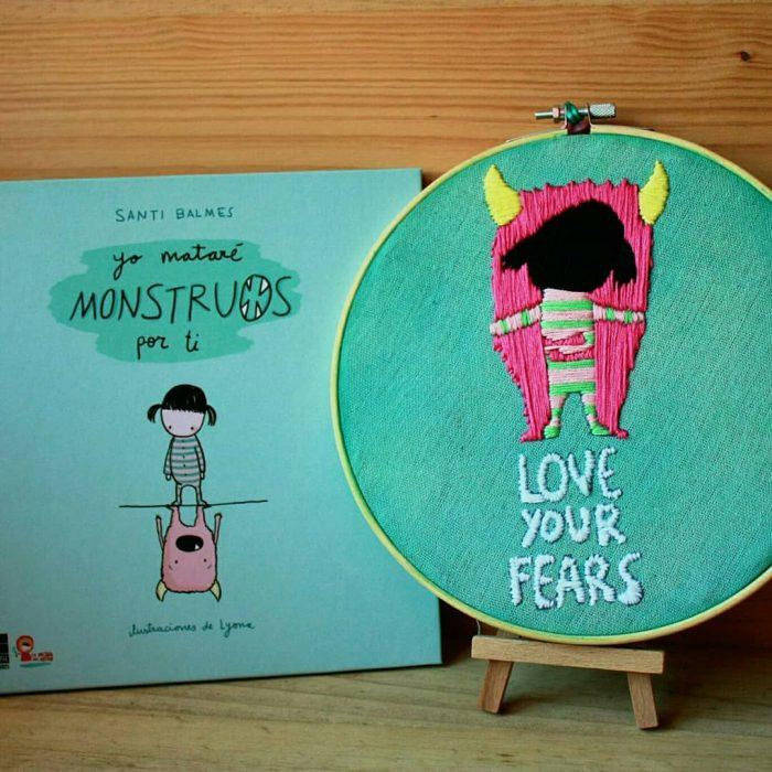 portada del libro para niños Yo mataré monstruos por ti