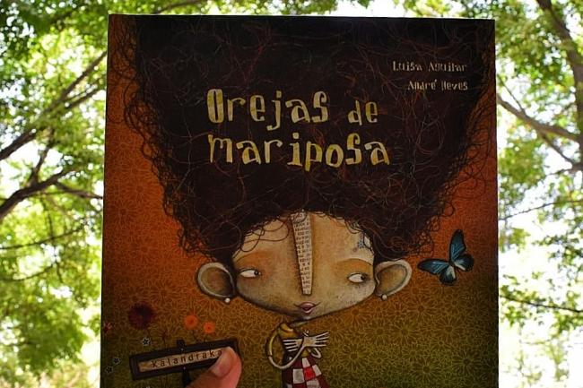 portada del libro para niños Orejas de mariposa
