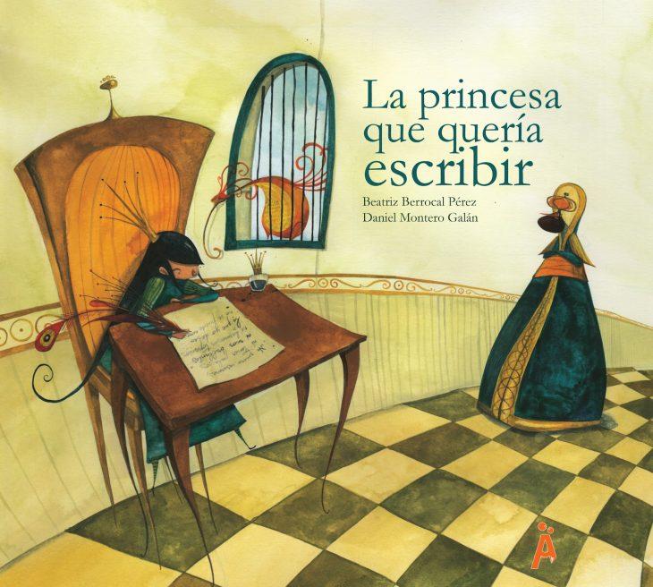 portada del libro para niños La princesa que quería escribir