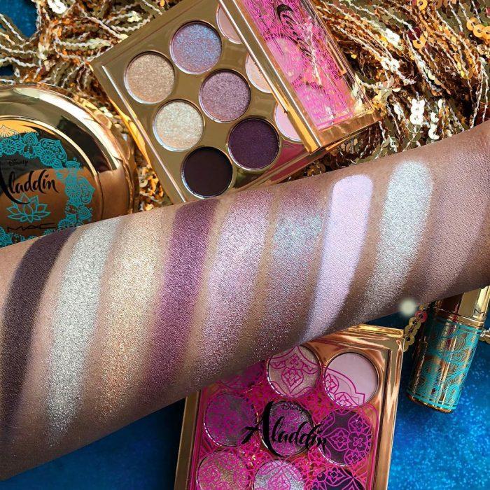 Paleta de sombras de colores Aladdin en tonos brillantes