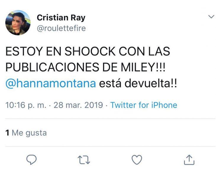 Tuit sobre la conmoción del nuevo look de Miley Cyrus