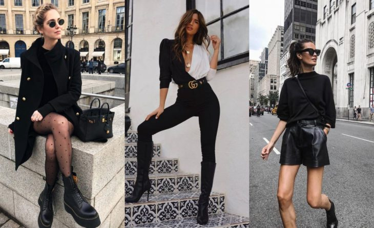 chicas en las escaleras con ropa negra
